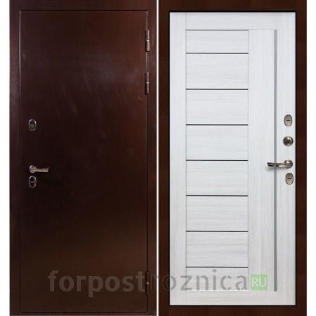 Входная дверь с терморазрывом Лекс Термо Сибирь 3К Верджиния Дуб беленый (панель №38)
