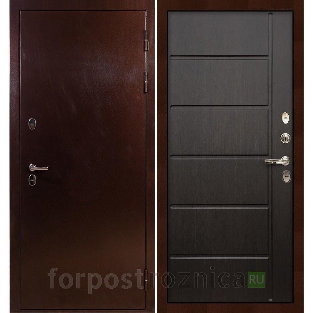 Входная дверь с терморазрывом Лекс Термо Сибирь 3К Венге (панель №41)