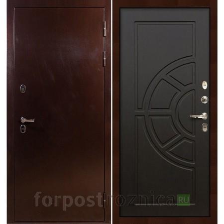 Входная дверь с терморазрывом Лекс Термо Сибирь 3К Венге (панель №43)