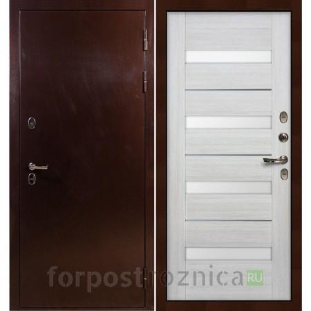 Входная дверь с терморазрывом Лекс Термо Сибирь 3К Сицилио Дуб беленый (панель №46)