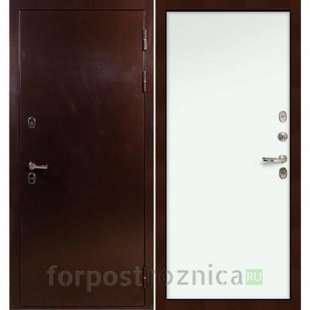 Входная дверь с терморазрывом  Лекс Термо Сибирь 3К Винорит Белый (панель №59)