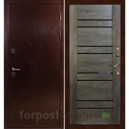 Входная дверь с терморазрывом Лекс Термо Сибирь 3К Терра Графит шале (панель №64)