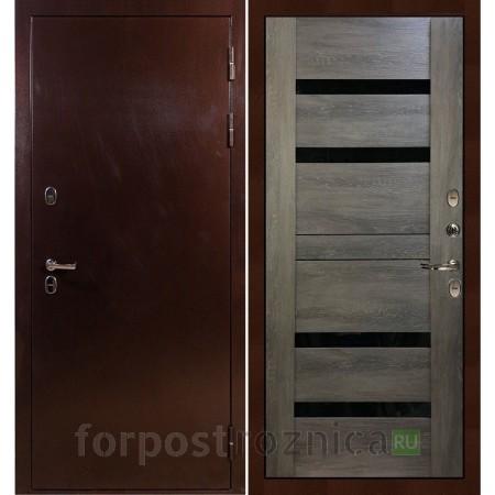 Входная дверь с терморазрывом Лекс Термо Сибирь 3К Неро Графит шале (панель №65)