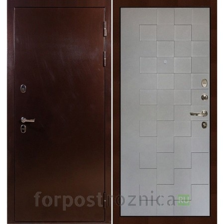 Входная дверь с терморазрывом Лекс Термо Сибирь 3К Графит софт Квадро (панель №72)