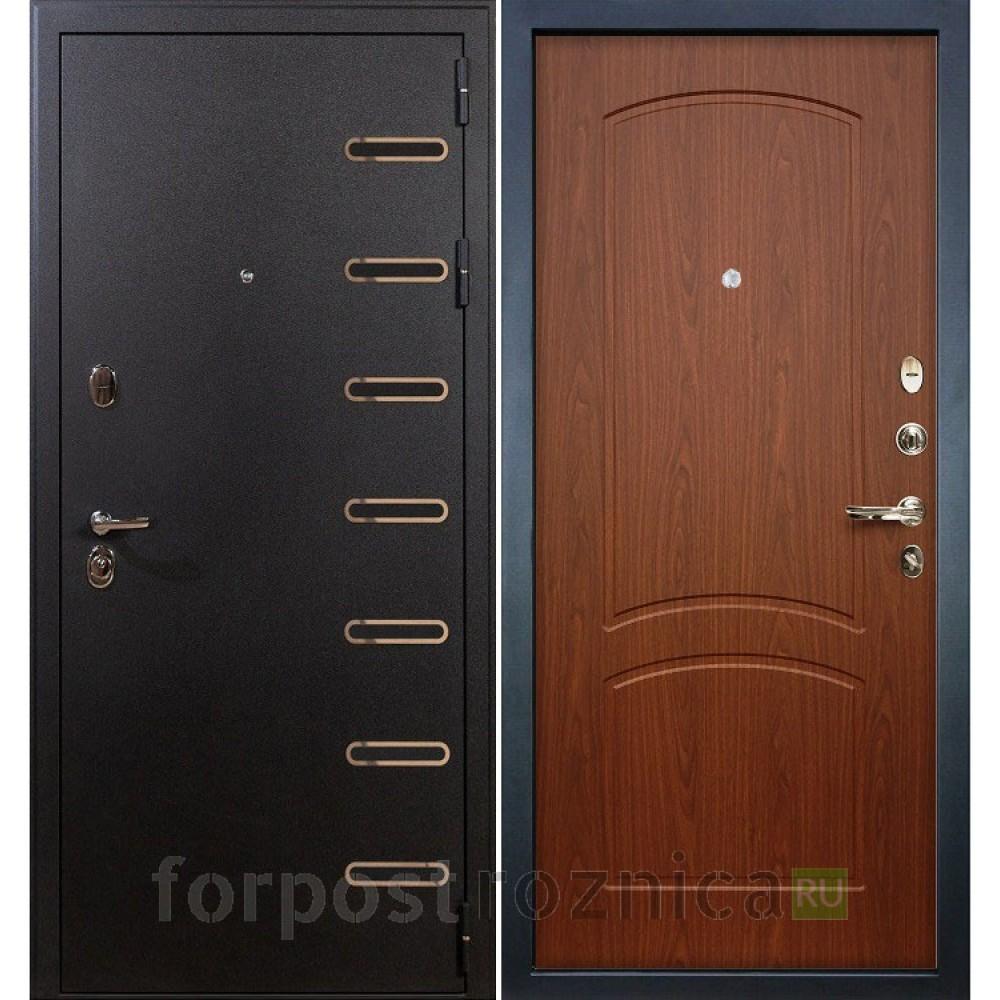 Входная дверь Лекс Витязь 11 в цвете Береза мореная (Трехконтурные)