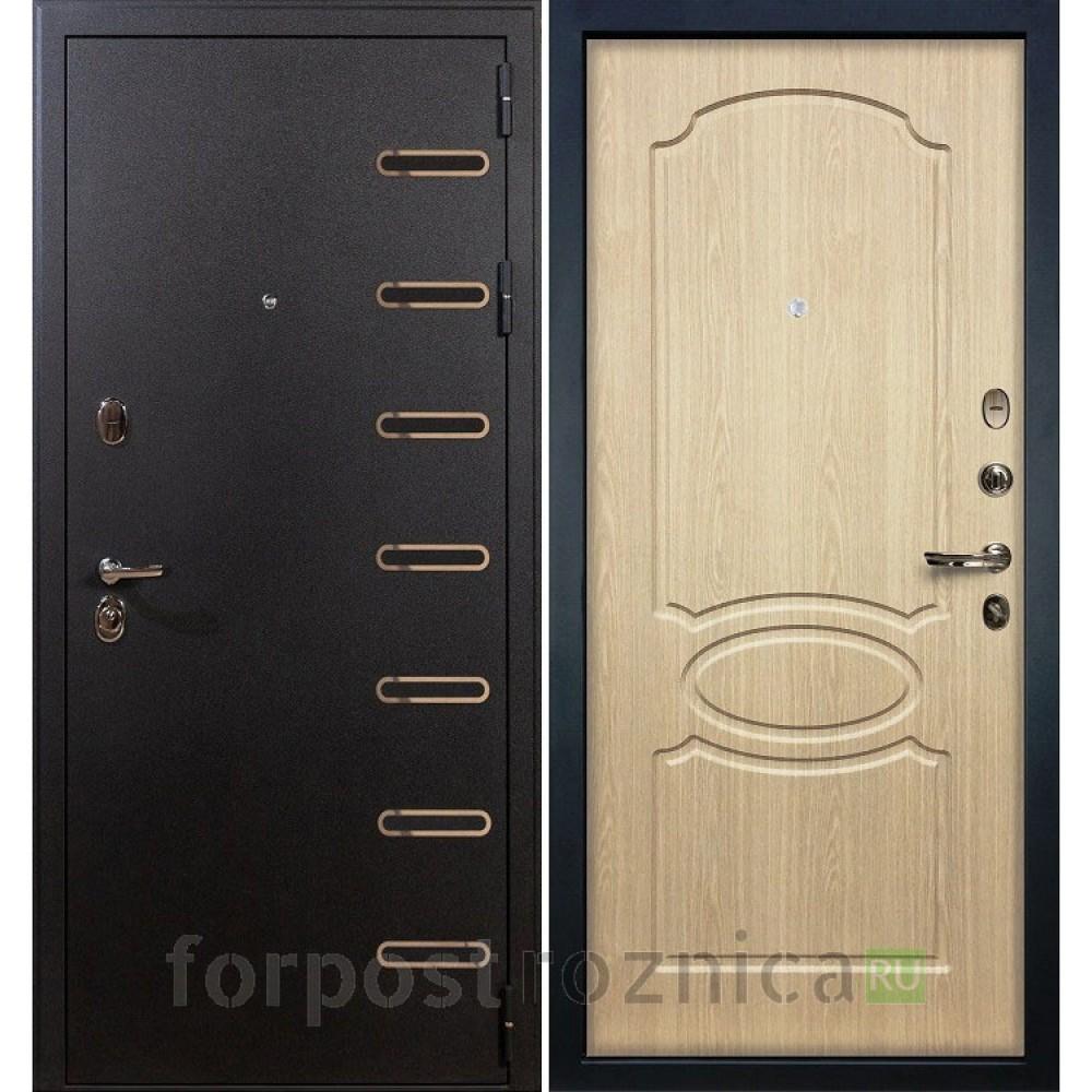 Входная дверь в квартиру Лекс Витязь 14 Дуб беленый (Трехконтурные)
