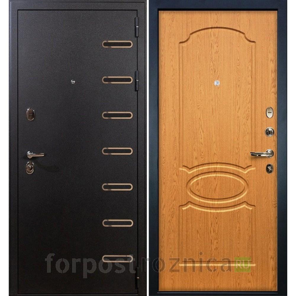 Входная дверь Лекс Витязь 15 Дуб натуральный (Трехконтурные)
