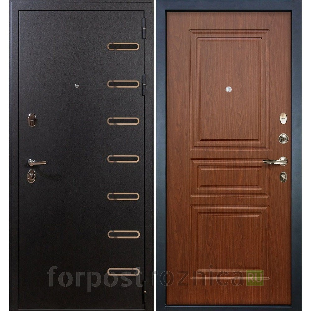 Входная дверь в квартиру Лекс Витязь 19 Береза мореная (Трехконтурные)