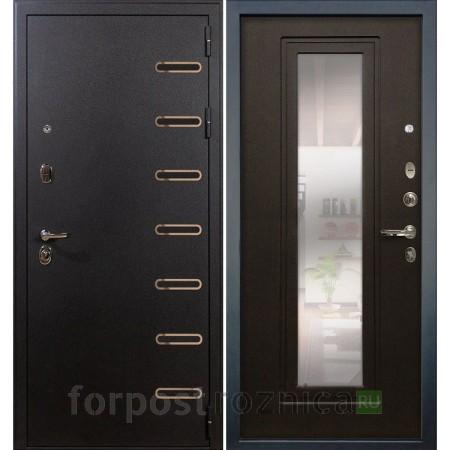 Входная дверь Лекс Витязь 22  Венге (с зеркалом)