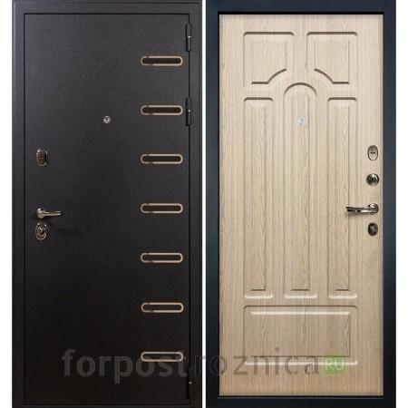 Входная дверь Лекс Витязь 25 Дуб беленый (Трехконтурные)
