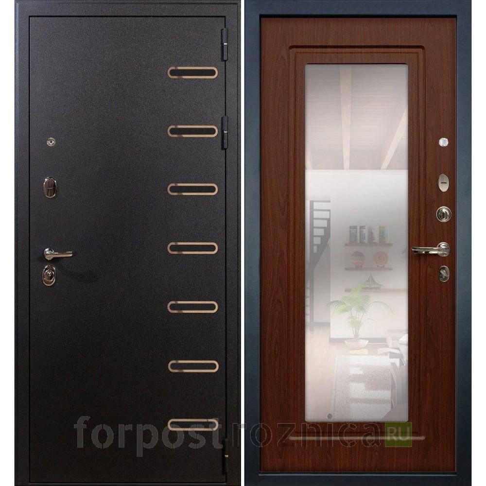 Входная дверь Лекс Витязь 30 Береза мореная (с зеркалом)