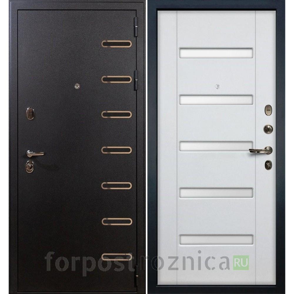 Входная дверь Лекс Витязь 34 Ясень белый (Трехконтурные)