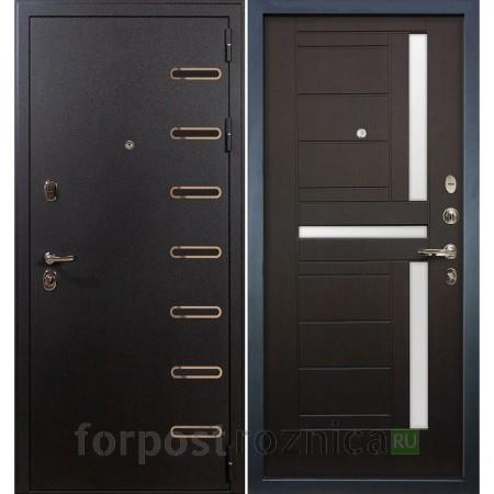 Входная дверь Лекс Витязь 35 Венге (со стеклом)