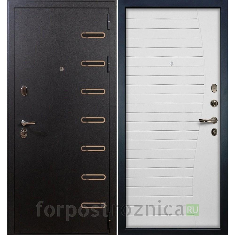 Входная дверь Лекс Витязь 36 Ясень белый (Трехконтурные)