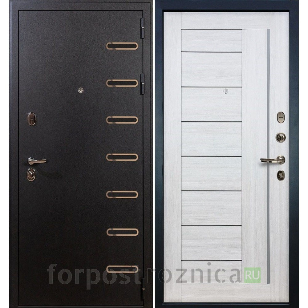 Входная дверь в квартиру Лекс Витязь 38 Верджиния Дуб беленый (трехконтурные)