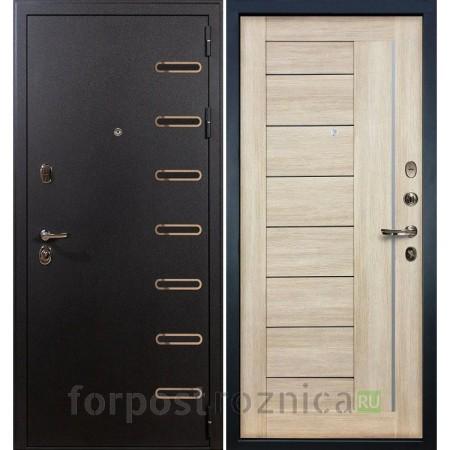 Входная дверь Лекс Витязь Верджиния 40 Ясень кремовый (со стеклом)