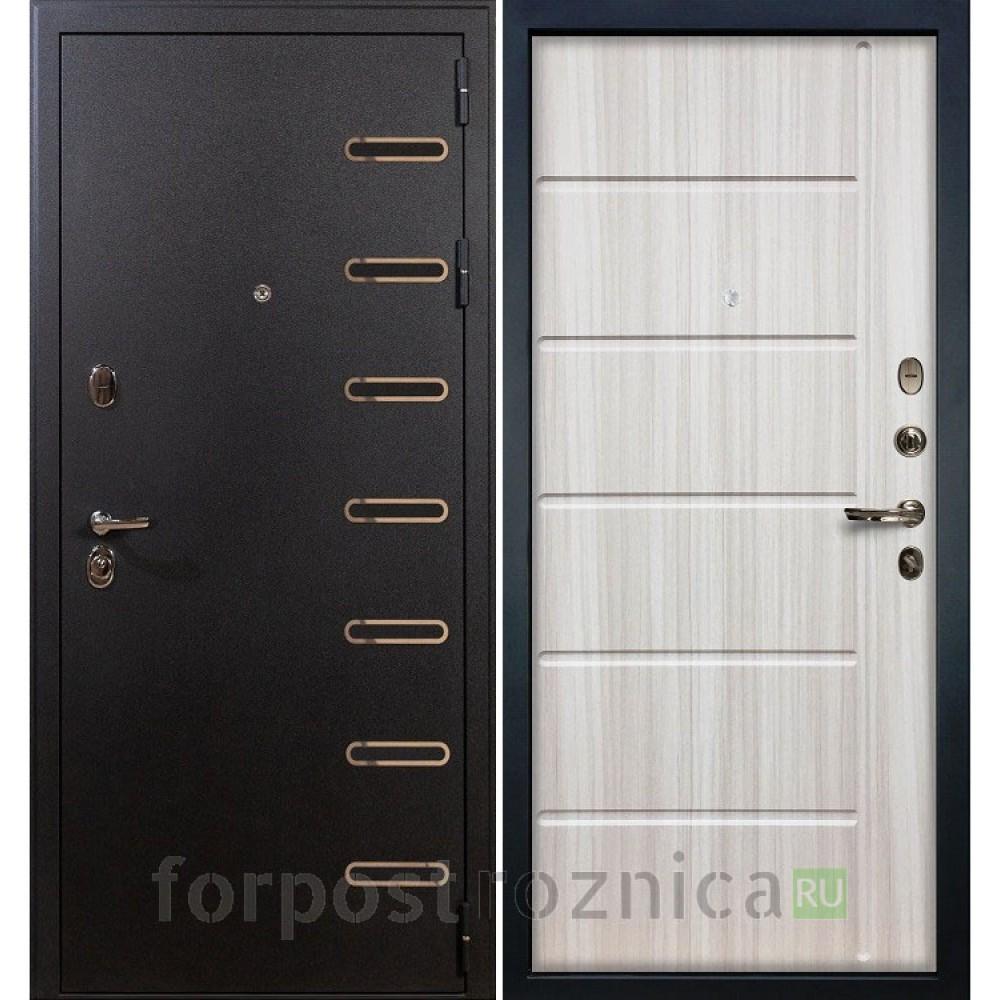 Входная дверь Лекс Витязь 42 Сандал белый (Трехконтурные)