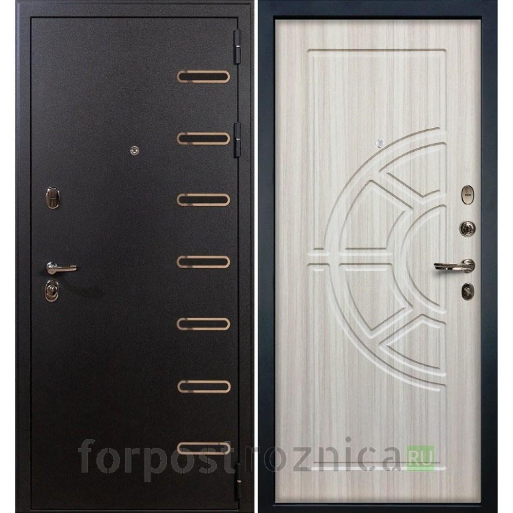 Входная дверь Лекс Витязь 44 Сандал белый (Трехконтурные)