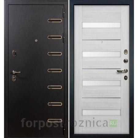 Входная дверь Лекс Витязь Сицилио 46 Дуб беленый (со стеклом)
