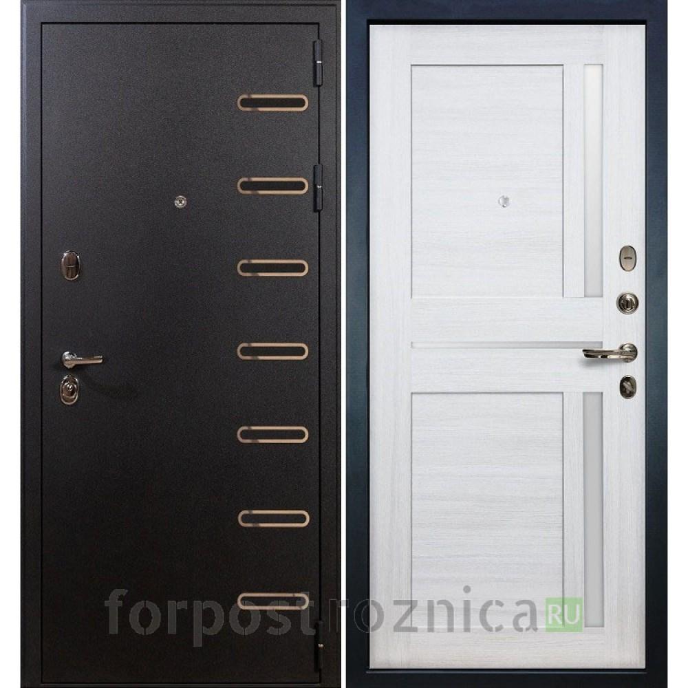 Входная дверь Лекс 47 Витязь Баджио Дуб беленый (со стеклом)