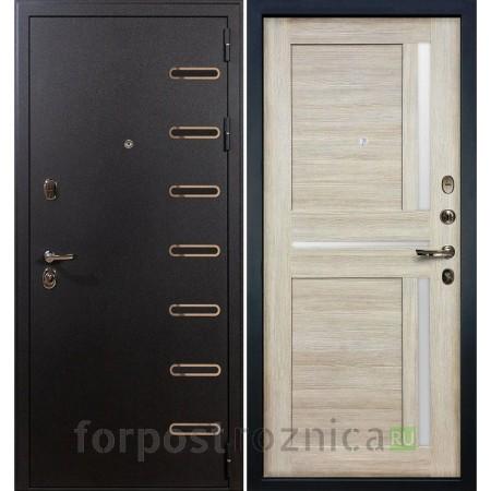 Входная дверь Лекс Витязь 49 Баджио Ясень кремовый