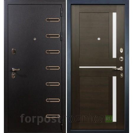 Входная дверь Лекс Витязь 50 Баджио Венге (со стеклом)