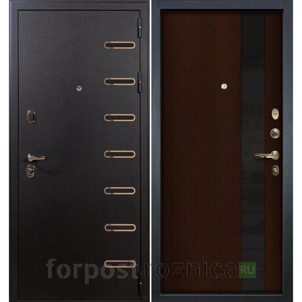 Входная дверь Лекс Витязь Новита 53 Венге (со стеклом)