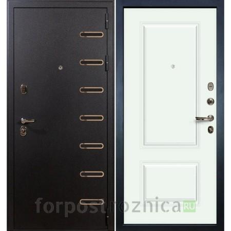 Входная дверь Лекс Витязь Вероника-1 Шпон Эмаль Белая (Трехконтурные)
