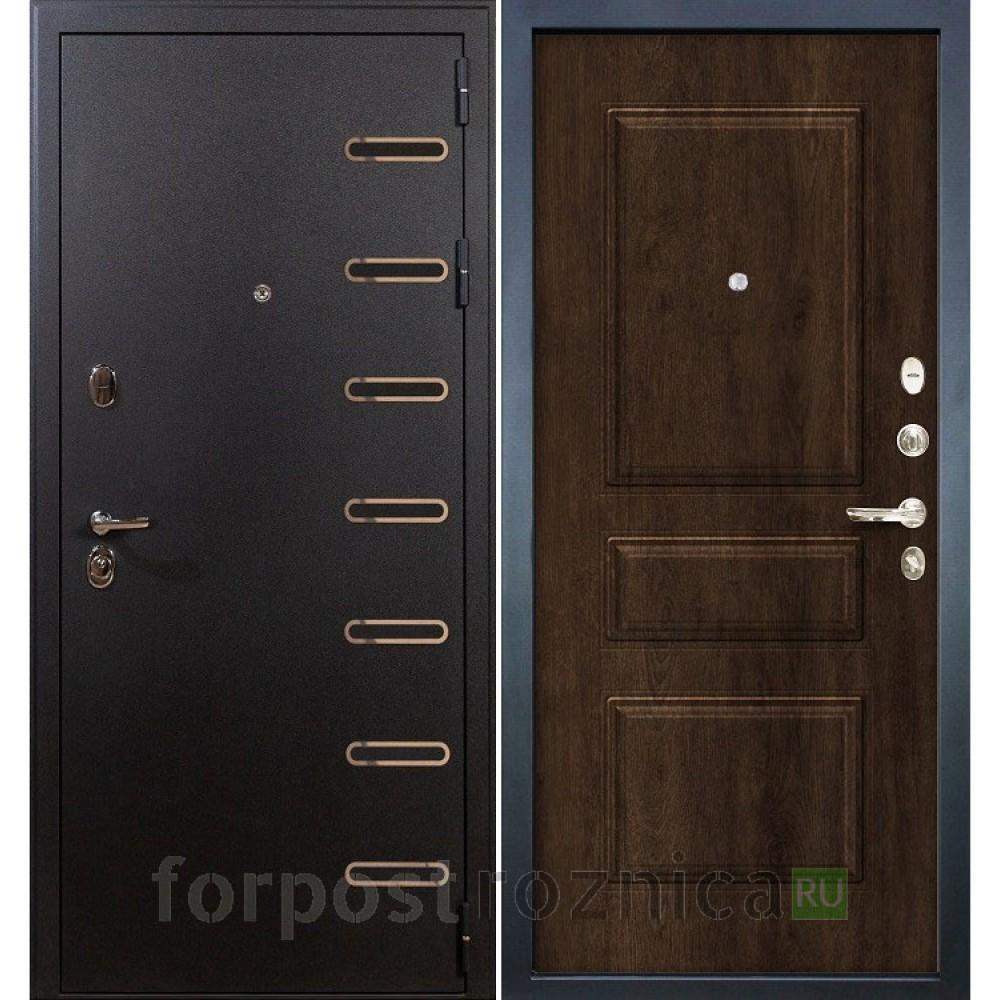 Входная дверь Лекс Витязь 60 в цвете Алмон 28 (Трехконтурные)