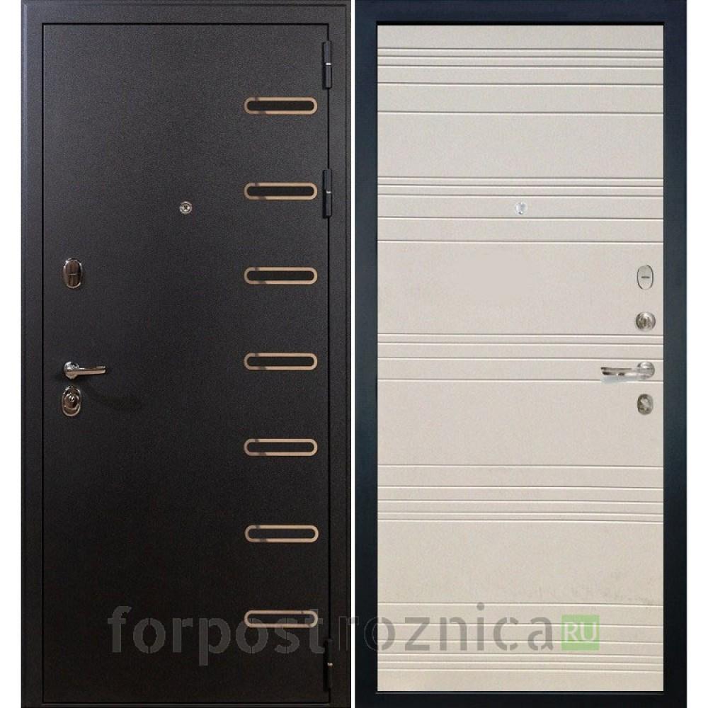 Входная дверь Лекс Витязь 63 Дуб фактурный кремовый (светлые)