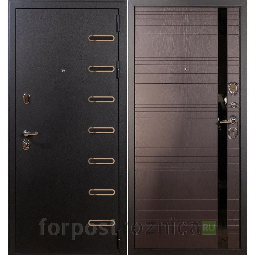 Входная дверь Лекс Витязь 31 Ясень шоколад (Трехконтурные)