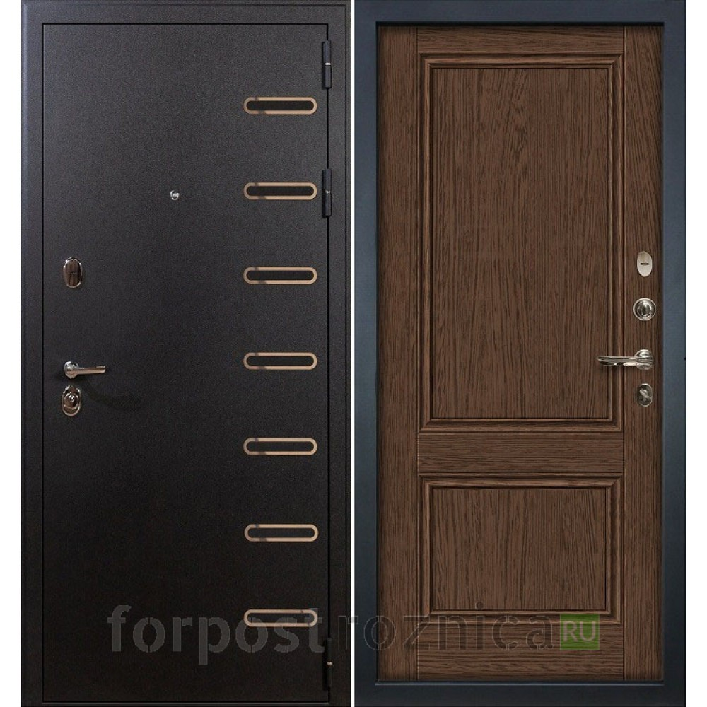 Входная дверь Лекс Витязь Энигма-57 Орех (Трехконтурные)