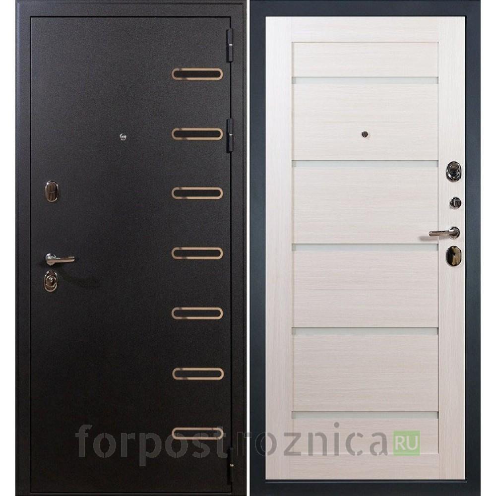 Входная дверь Лекс Витязь Клеопатра-58 Дуб беленый  (со стеклом)