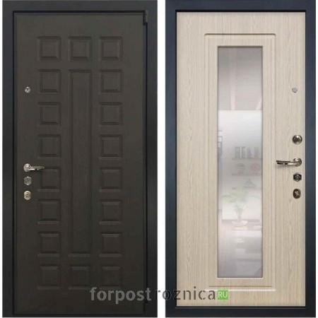 Входная дверь Лекс Неаполь Mottura-Cisa Беленый дуб №23 (с зеркалом)