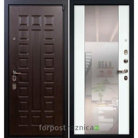 Входная дверь Лекс Неаполь Mottura-Cisa Белый Ясень №61 (с зеркалом)
