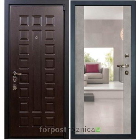 Входная дверь Лекс Неаполь Mottura-Cisa Бетон серый №102 (с зеркалом)