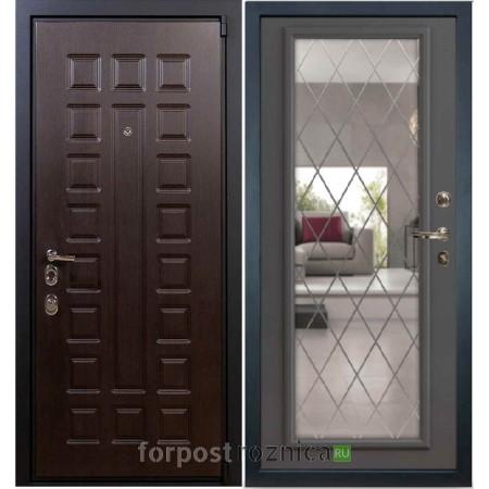 Входная дверь Лекс Неаполь Mottura-Cisa Cофт графит №100 (с зеркалом)