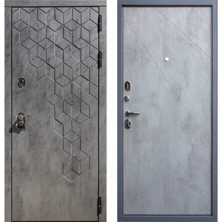 Входная дверь REX 23 Пчела ФЛ-291 бетон темный