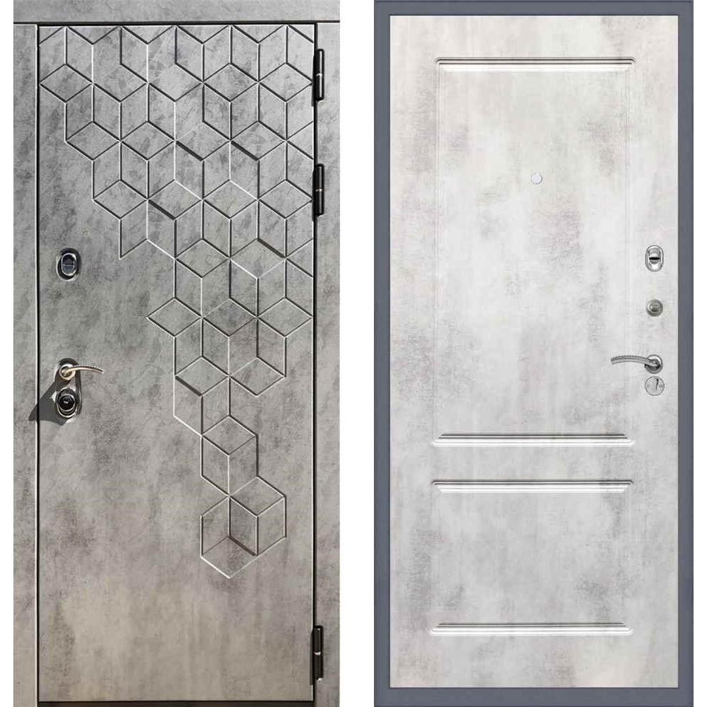 Входная дверь REX 23 Пчела ФЛ-117 Бетон светлый