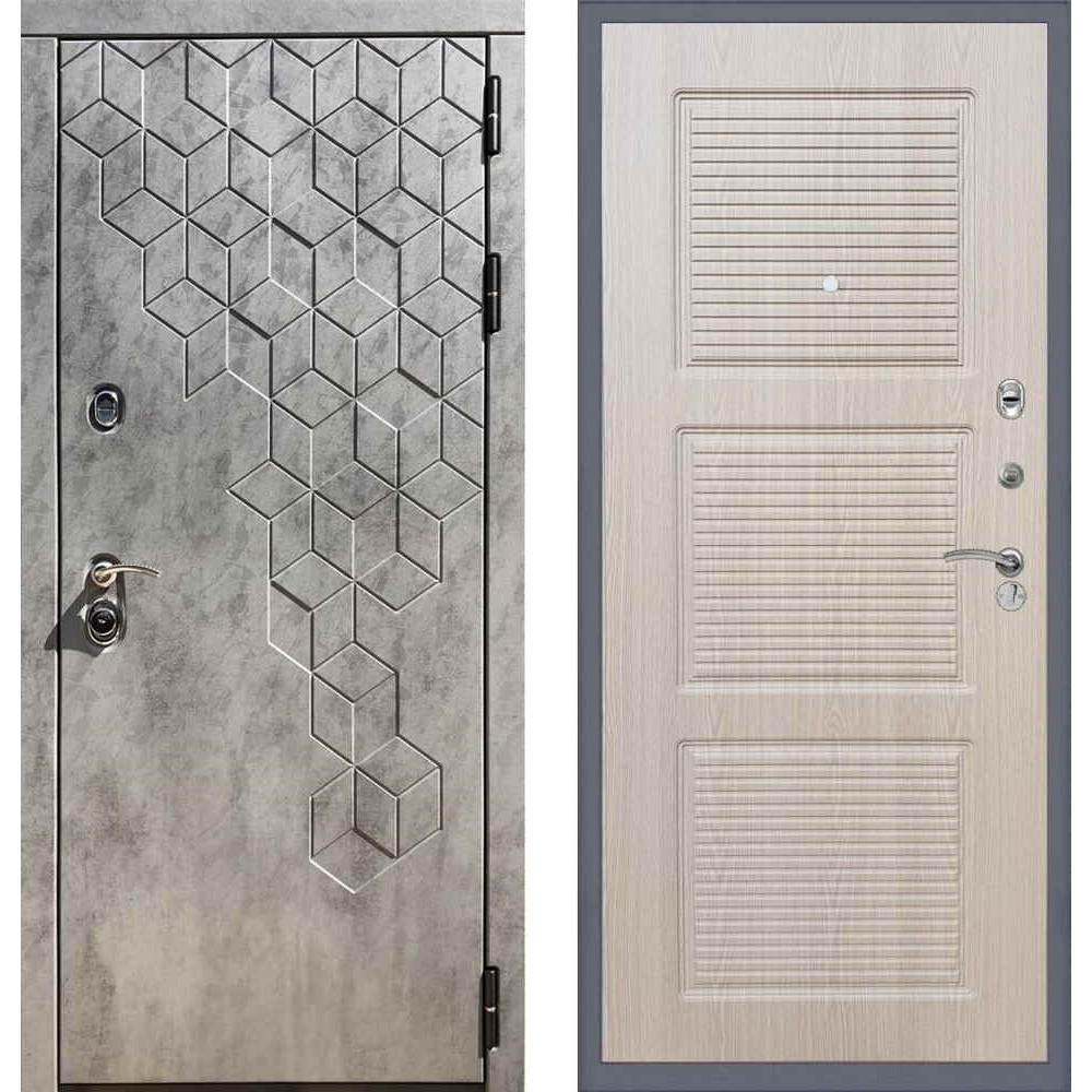 Входная дверь REX 23 Пчела ФЛ-1 беленый дуб