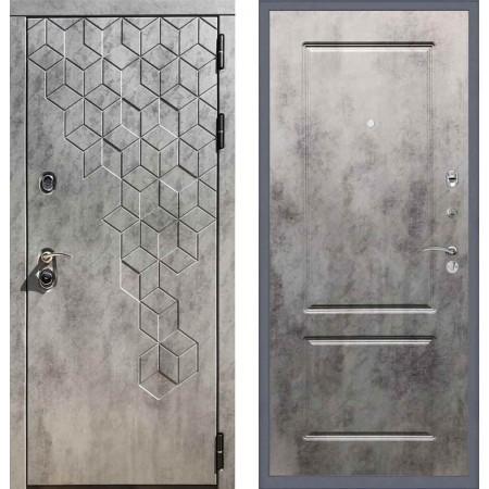 Входная дверь REX 23 Пчела ФЛ-117 бетон темный