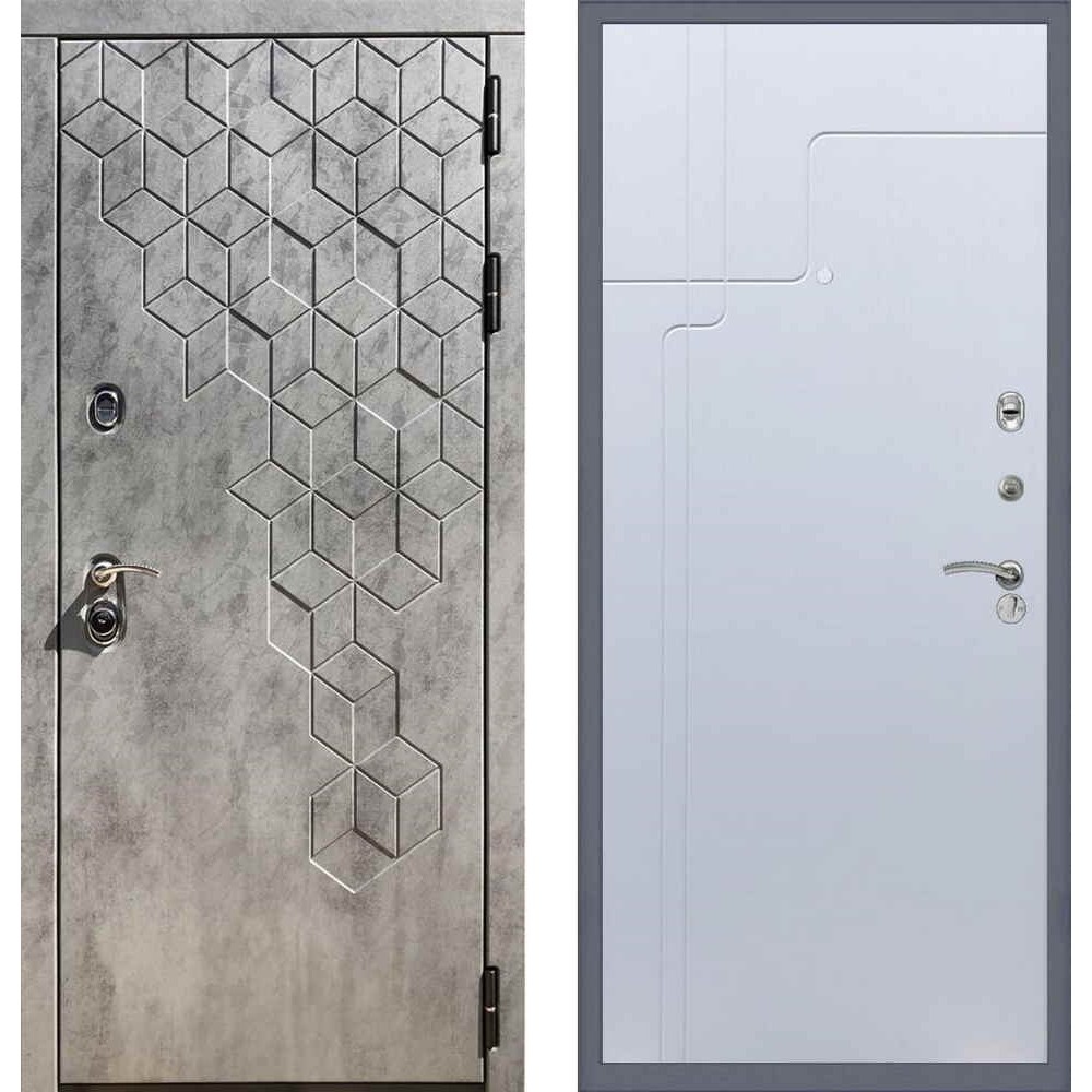 Входная дверь REX 23 Пчела ФЛ-246 Белый софт