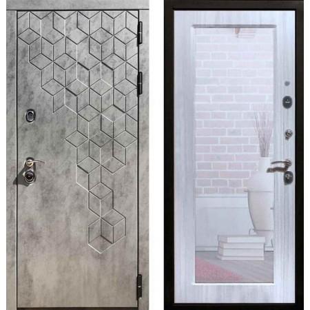 Входная дверь REX 23 Пчела Пастораль Сандал белый (с зеркалом)