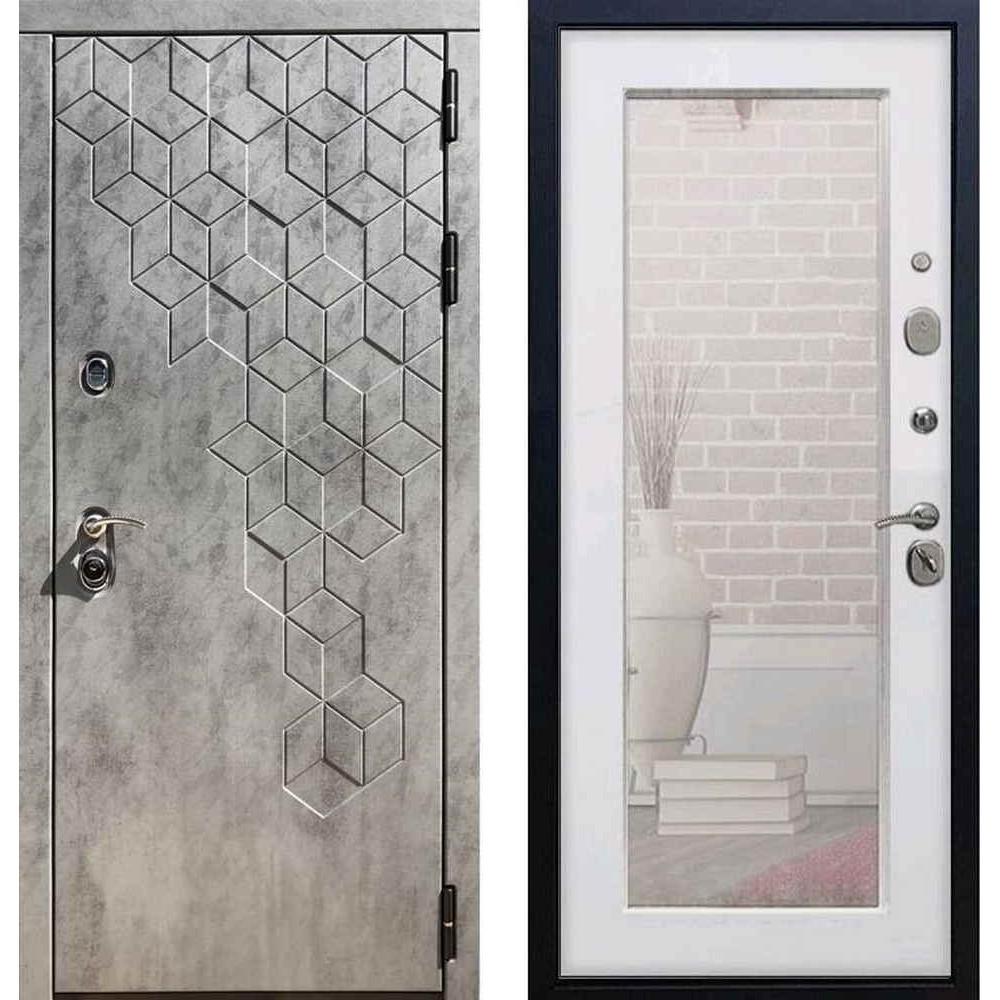 """Входная дверь REX 23 """"Пчела"""" Пастораль Белый ясень ( c зеркалом)"""