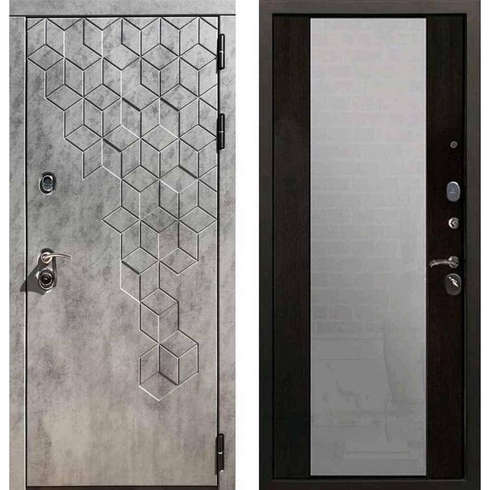 Входная дверь REX 23 Пчела СБ-16 с зеркалом венге
