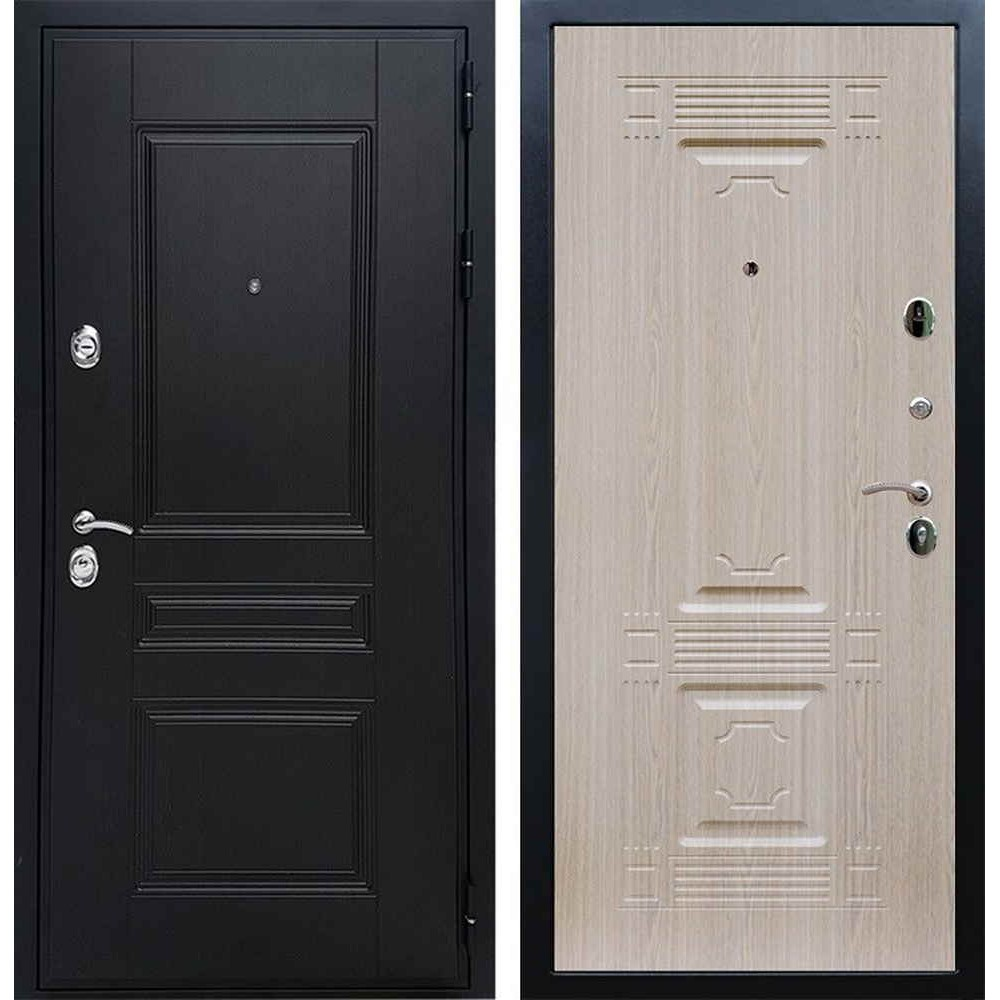 Входная дверь REX Премиум H венге «ФЛ-2» Беленый дуб