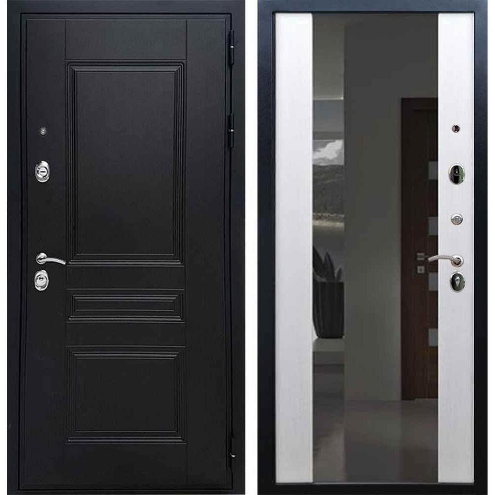 Входная дверь REX Премиум H венге сб-16 белый ясень (с зеркалом)