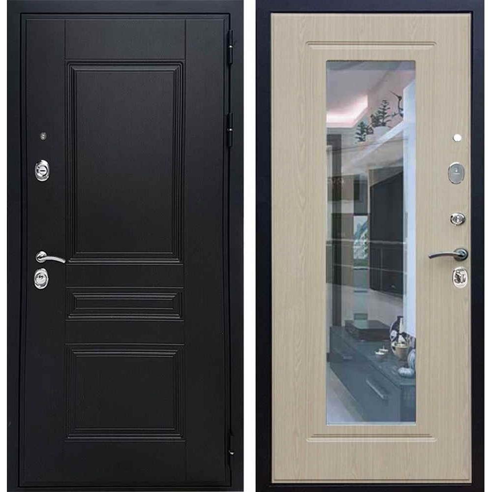 Входная дверь REX Премиум H венге ФЛЗ-120 беленый дуб
