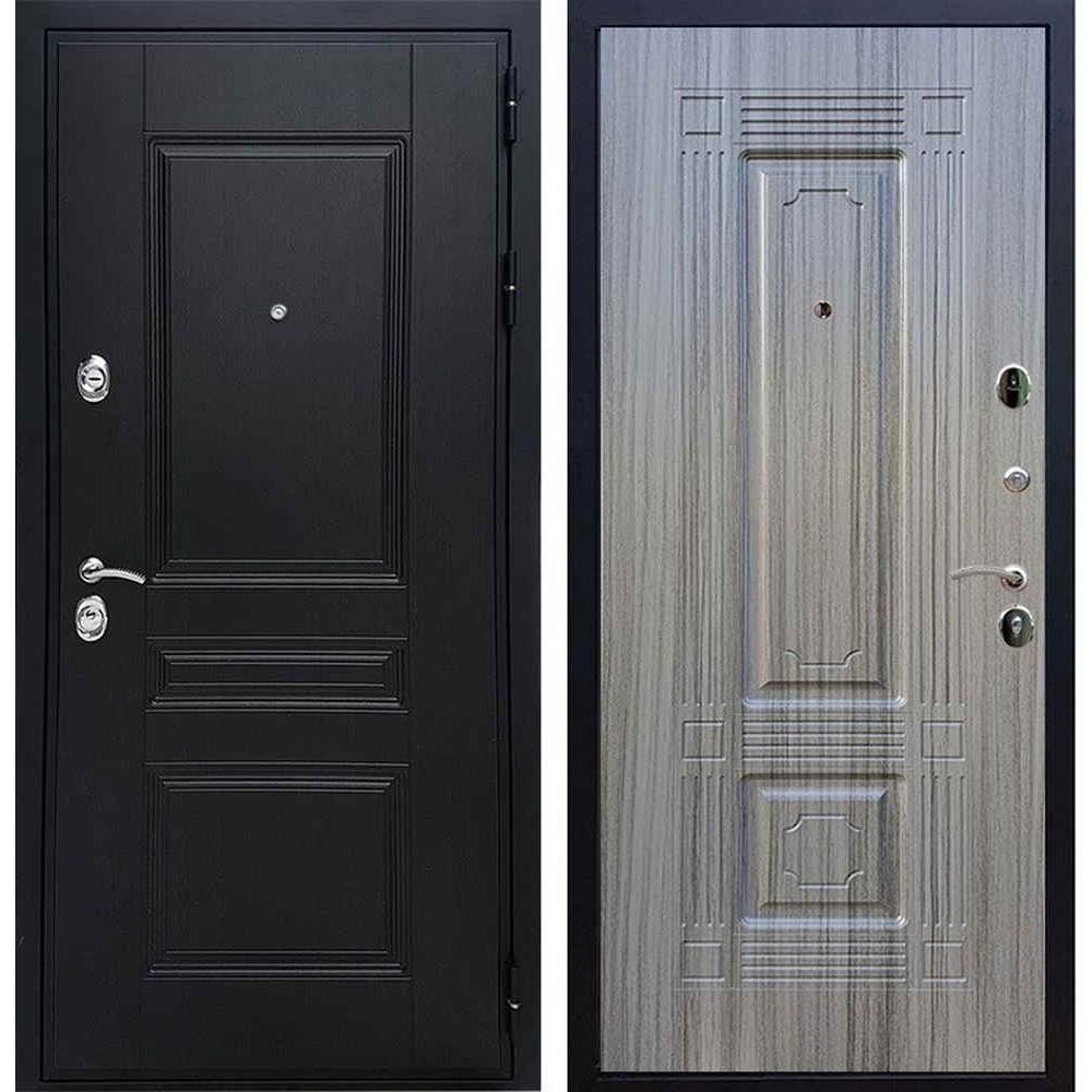 Входная дверь REX Премиум H венге Фл-2 сандал серый