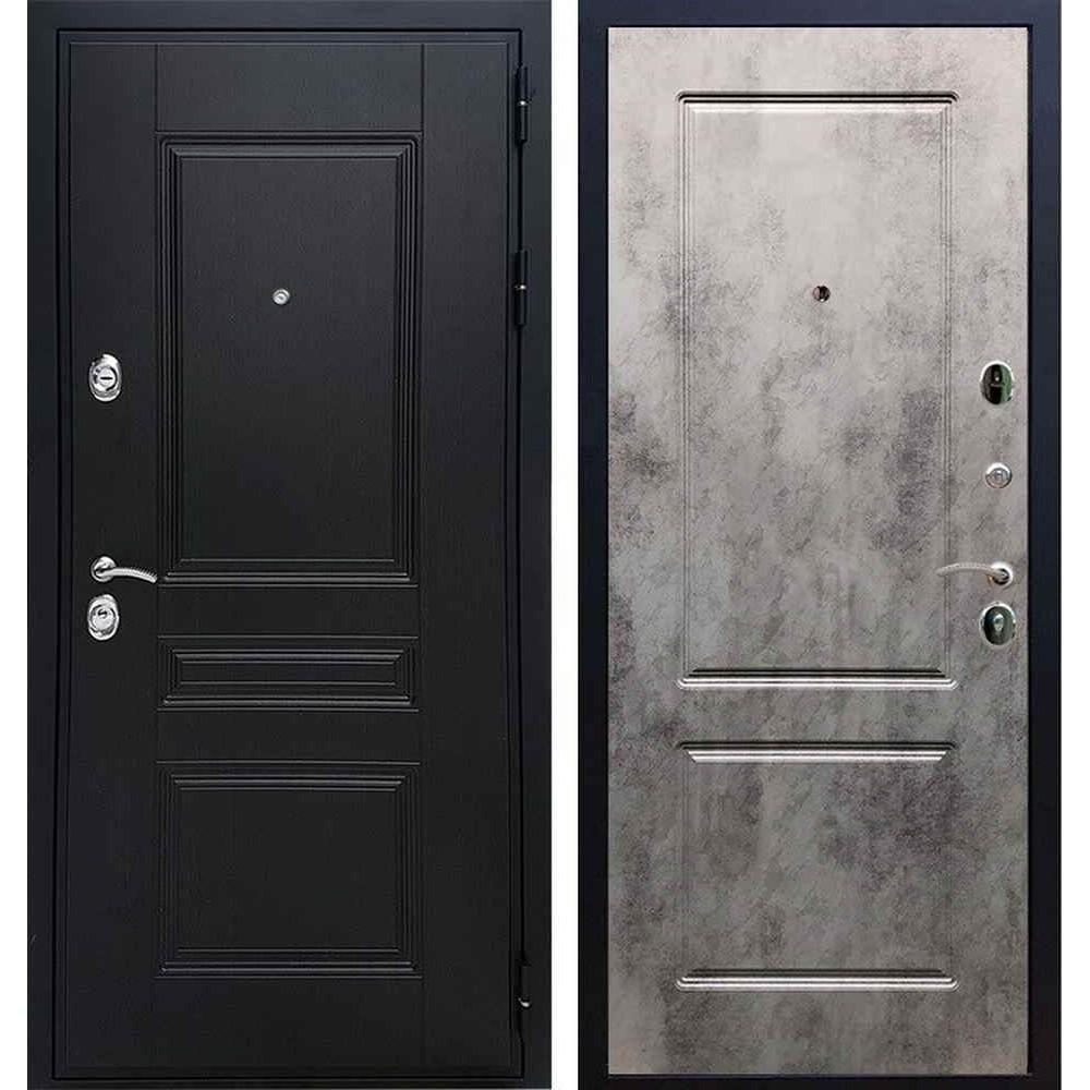 Входная дверь REX Премиум H венге ФЛ-117 бетон темный